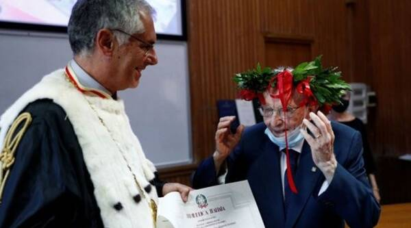 Italy, Italy oldest student, Italy oldest graduate, 96-year-old graduate, 96-year-old war veteran, 96-year-old oldest student, University of Palermo oldest student, Trending news, Viral news, Indian Express news.