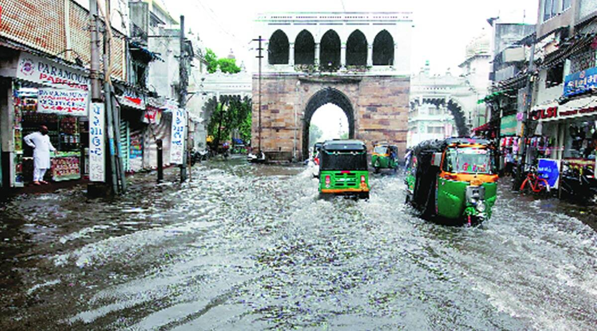 gujarat rains, gujarat monsoon, gujarat floods, gujarat rain deaths, gujarat weather forecast, imd gujarat rain forecast, imd gujarat weather forecast, indian express news