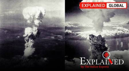 Hiroshima nagasaki US atom bomb, japan atom bomb, hiroshima nuclear attack, US truman,world war II, indian express explained, explained news