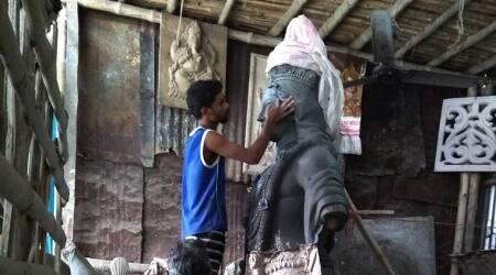 ayodhya ram temple, ayodhya ram temple architect, stone carving, silicosis from idol carving, Sompuras idol carving silicosis, sompuras bulidng the ram temple, indian express news