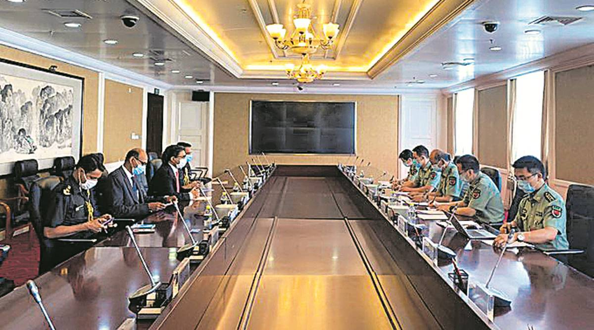 Indian Embassy, China meeting, LAC crisis, India envoy, Indian express news