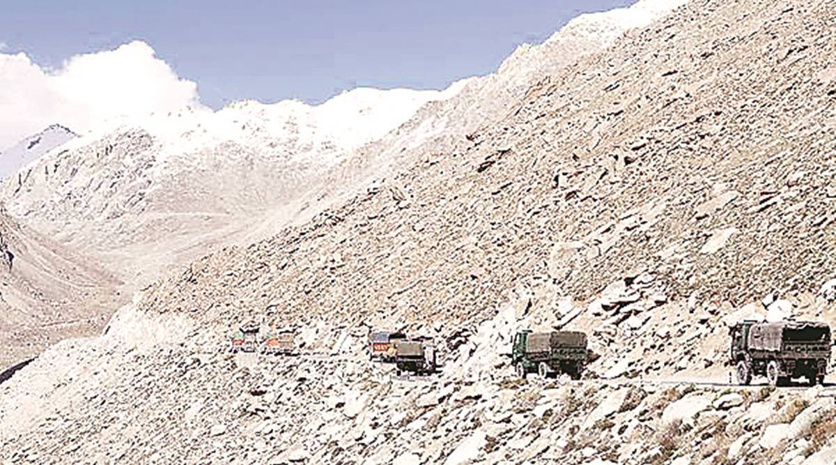 troop convoy, eastern Ladakh, ITBP, gallantry medal, Indo-China clash, Indian express news