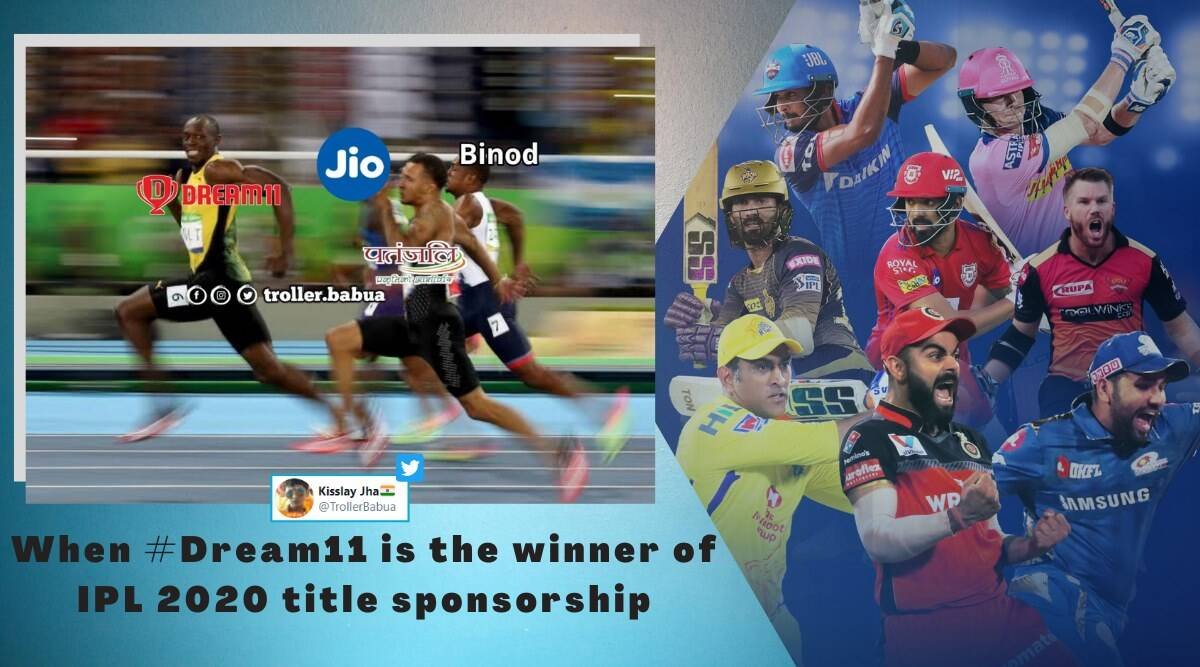 ipl 2020, IPL title sponsorship, IPL title sponsorship bidding dream 11 IPL title sponsorship, ipl 2020 title vivo suspended, ipl 2020 memes, cricket news, sports news, indian express