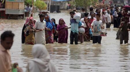 pakistan, pakistan rains, pakistan monsoon, pakistan floods, pakistan news, karachi, indian express