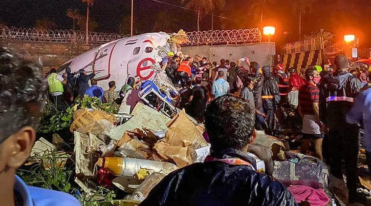 kerala air crash, kerala plane crashlanding, kozhikode airport plane skid off, kerala tabletop airport