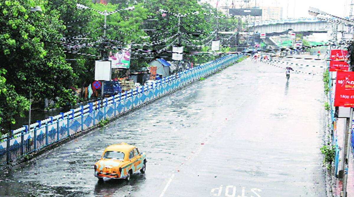 west bengal rainfall, west bengal monsoon, west bengal covid, west bengal covid lockdown, indian express news