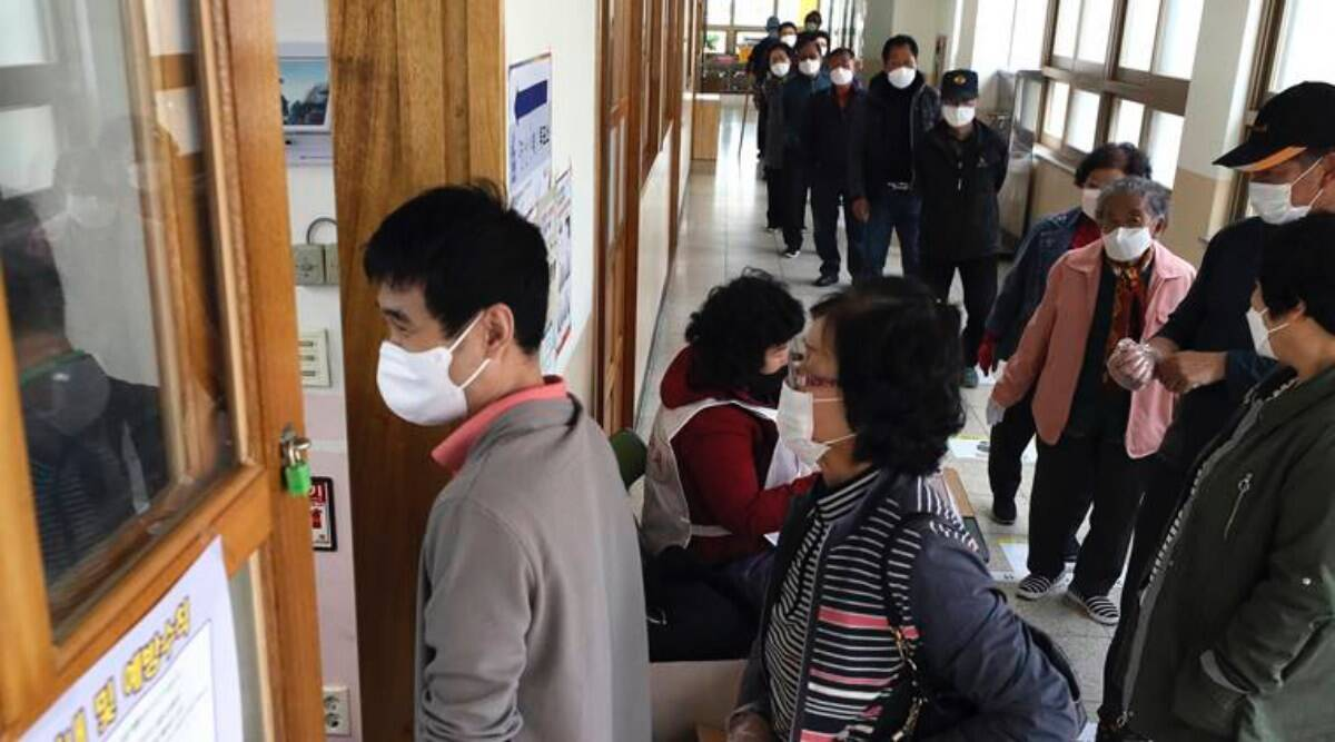 coronavirus news, elections in times of covid, korea elections, singapore elections, sri lanka elections, voting in covid-19, national elections, world news, indian express