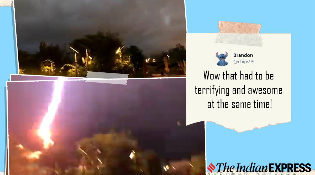 Walt Disney World lightning viral video, Florida theme park, trending, viral video, indian express, indian express news