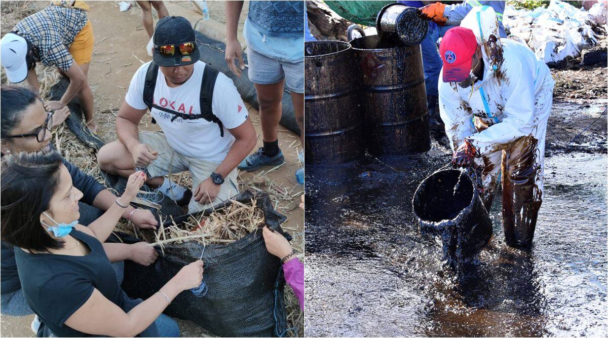 Mauritius, MV Wakashio, Mauritius oil spill, Mauritius people clean oil spill, mauritius oil spill hair donation, mauritius oil spill booms building, viral news,