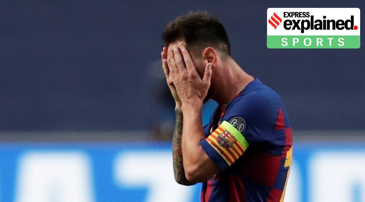 lionel messi barcelona, messi to leave barcelona, barcelona champions league defeat, bayern munich, barcelona defence, barcelona, barcelona football,
