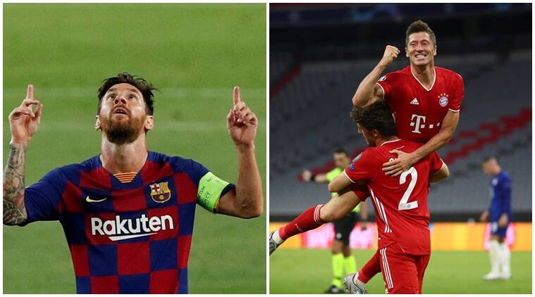 UCL roundup: Messi magic as Barca sink Napoli, Lewandowski dazzles as Bayern crush Chelsea - The Indian Express
