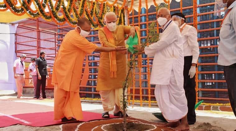 ram temple, ram temple ayodhya, ram temple bhoomi pujan, pm modi in ayodhya, ram temple verdict, babri masjid, indian express news