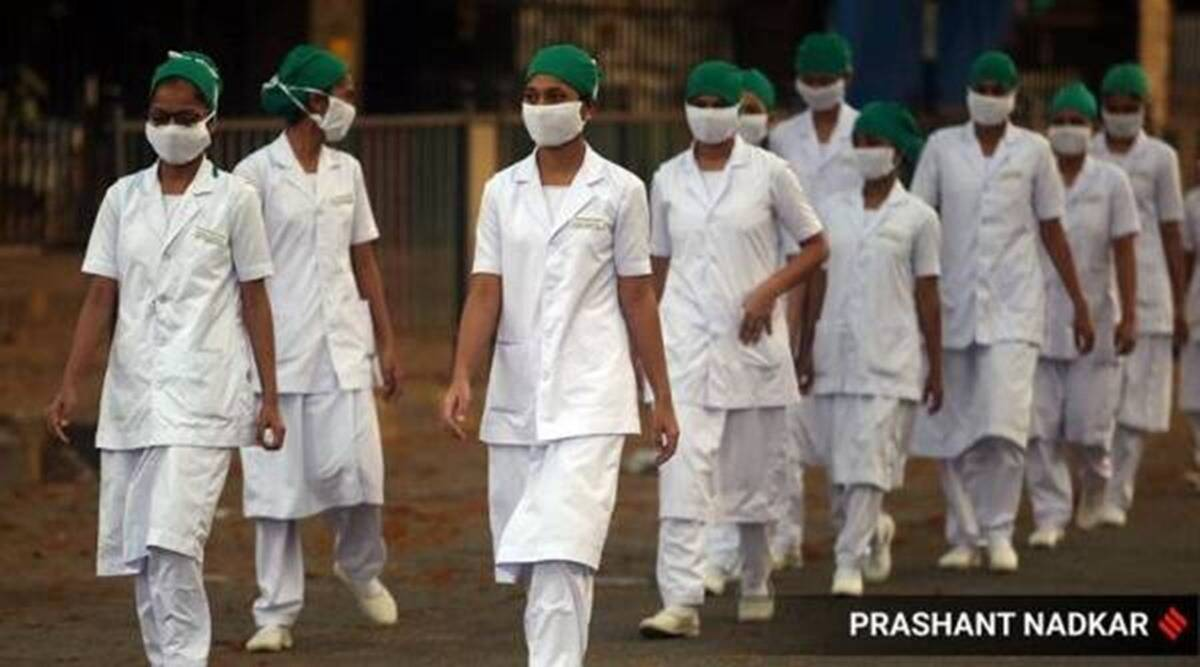 maharashtra coronavirus latest updates, maharashtra nurses protests, maharashtra nurses permanent posting protests, maharashtra coronavirus hospitals