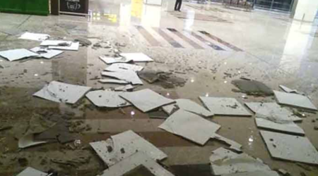 Newly built Islamabad airport's ceiling collapses due to rain