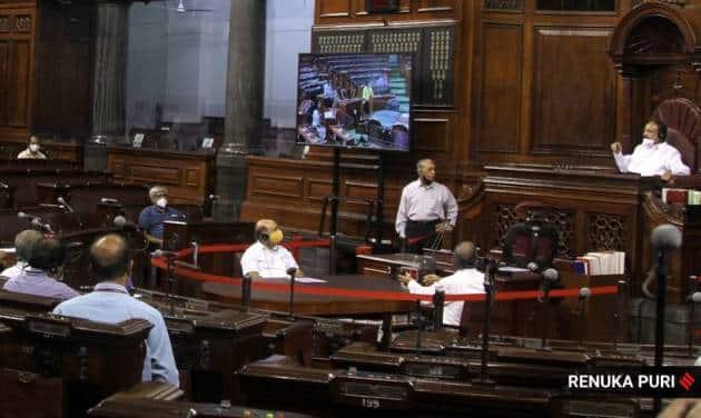 Parliament, Rajya Sabha, Rajya Sabha session, Parliament session, Venkaiah Naidu, Parliament covid pandemic, covid pandemic Rajya Sabha, India news, Indian Express