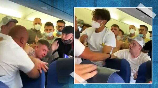 Ibiza flight brawl, anti mask Ibiza flight fight, men turn violent on flight asked to wear mask, klm flight mask fight, viral videos, indian express