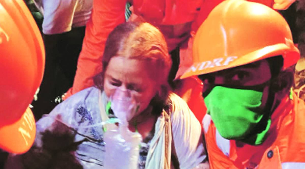 Mahad Building collapse, rescue efforts, NDRF team, Mumbai news, Indian express news
