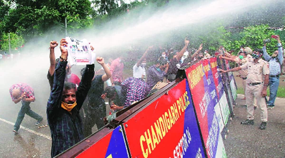 NEET-JEE exams, Congress protest, Panchkula news, Haryana news, Indian express news