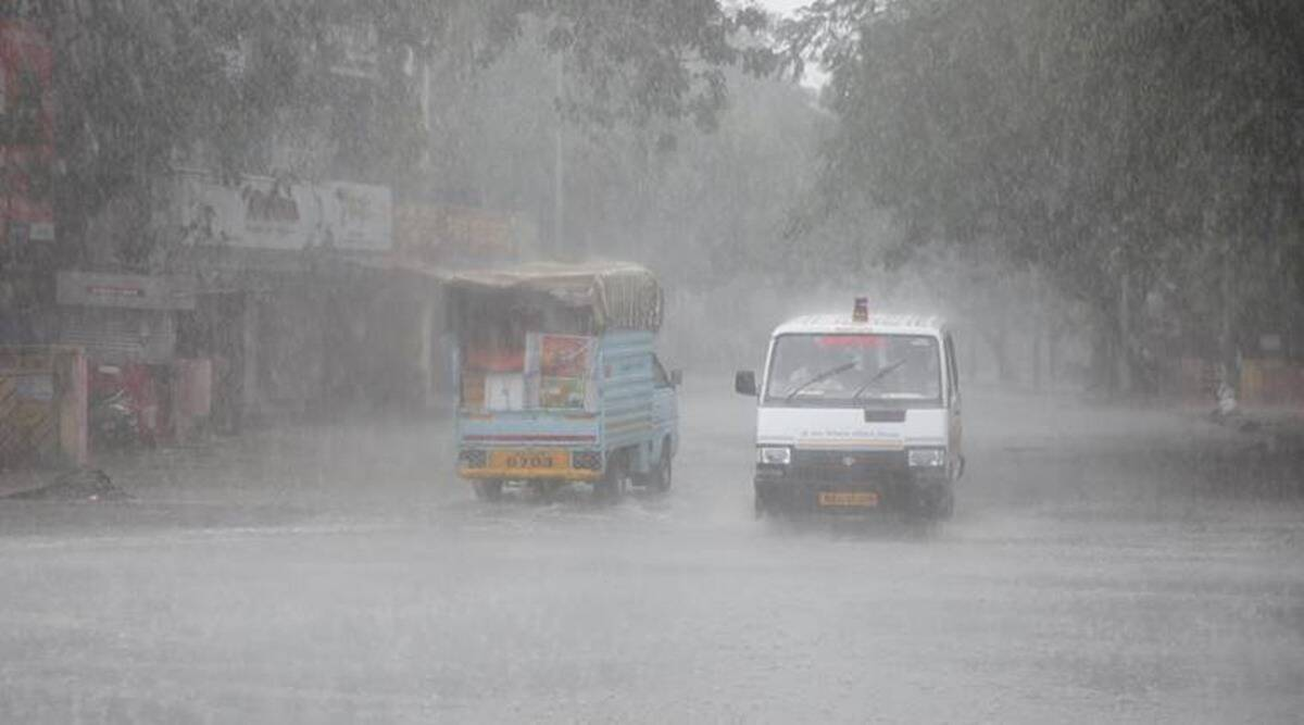 Gujarat rainfall, monsoon season, Ahmedabad news, Gujarat news, Indian express news