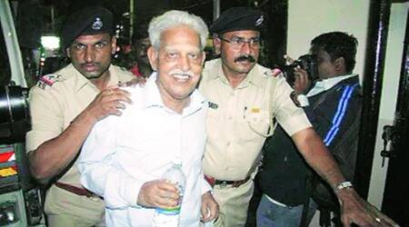 elgaar parishad case, VARAVARA Rao, VARAVARA Rao covid, VARAVARA Rao discharged, taloja jail, indian express news