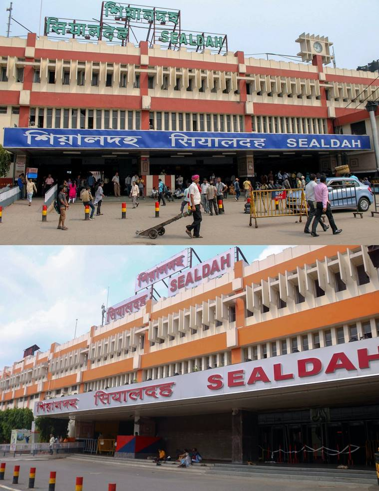 Howrah station before and after pandemic, Sealdah station before and after pandemic, Howrah station before coronavirus, Howrah station after coronavirus, Sealdah station before coronavirus, Sealdah station after coronavirus, indian express