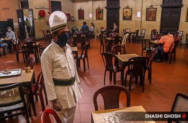 kolkata news, kolkata indian coffee house photos, west bengal lockdown, coronavirus pandemic, college street, bengal news, indian express