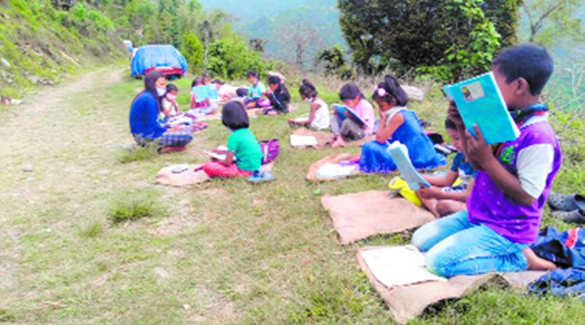 Sikkim online classes, Sikkim online classes in rural areas, Sikkim rural areas online classes, Sikkim lockdown, Sikkim covid cases, India news, Indian Express