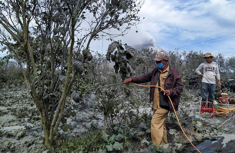 Mount Sinabung, Mount Sinabung volcano, Mount Sinabung erupts, Mount Sinabung videos, why do volcanoes erupt, how dangerous are volcanoes, ring of fire, ring of fire Indonesia, indian express, express explained