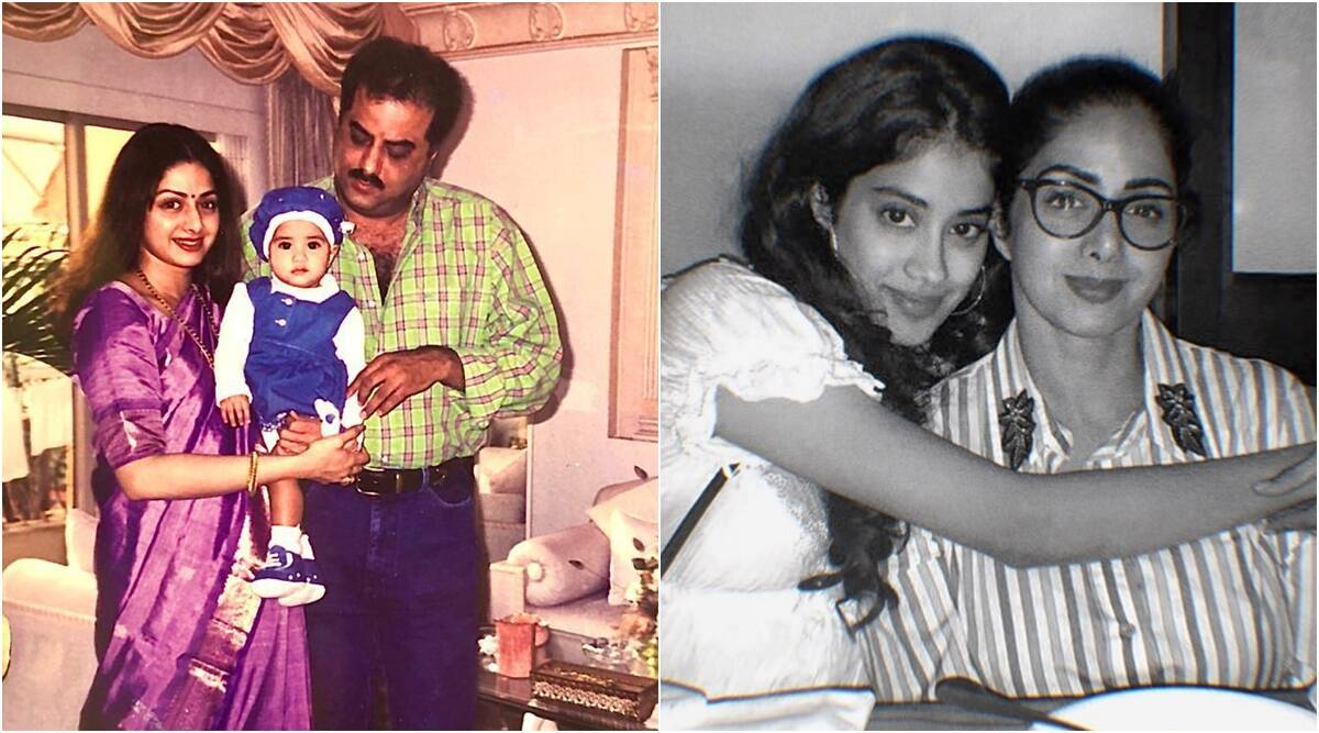 Wish you were here with us: Boney, Janhvi Kapoor on Sridevi's birth anniversary | Entertainment News,The Indian Express