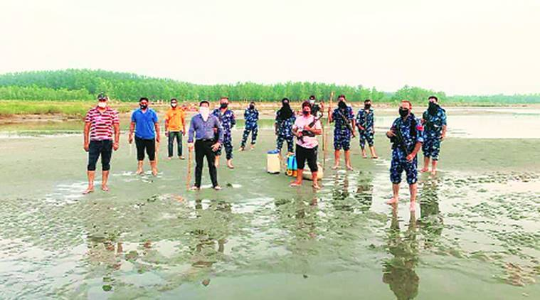 aquatic life, Sutlej river, Punjab excise official, Chandigarh news, indian express news