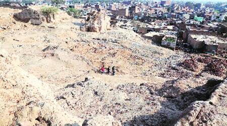 Haryana makes another attempt to clear Ther mound of squatters