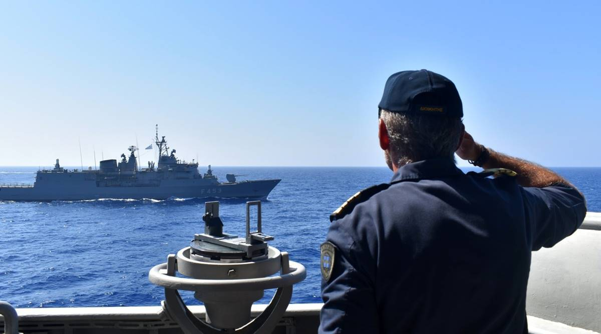 Turkey France de-escalation, Turkey France relations, Turkey accuses France, tensions in the eastern Mediterranean, eastern Mediterranean tensions, World news, Indian Express
