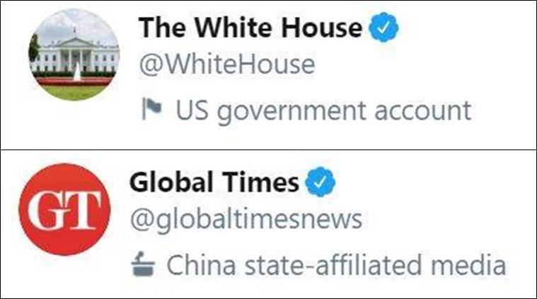 Twitter, Twitter labels govt handles, Twitter labelling, Twitter news, Twitter misinformation, Twitter Covid-19, Indian Express