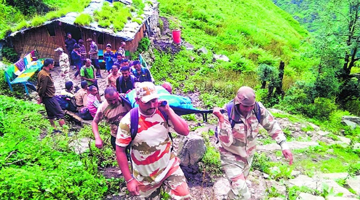 15-hour rescue in Uttarakhand: ITBP team carries injured woman 45 km