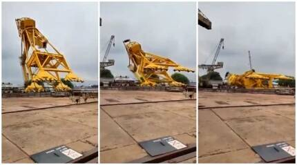 Vizag: 11 crushed to death after crane collapses at Hindustan Shipyard