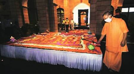 With diyas & firecrackers: Diwali comes early at UP CM's residence