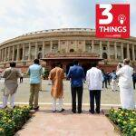 Lawmakers protest outside Indian Parliament