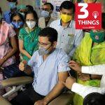 Volunteer participates in COVID-19 vaccine candidate trial in Pune