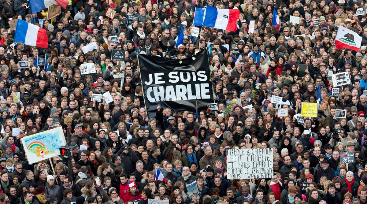 French paper Charlie Hebdo reprints Prophet Mohammed caricatures at start of terror trial - The Indian Express
