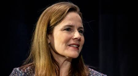 Amy Coney Barrett, who is Amy Coney Barrett, Amy Coney Barrett SC pick, Donald Trump Amy Coney Barrett, Justice Ginsburg Supreme Court seat, Indian Express