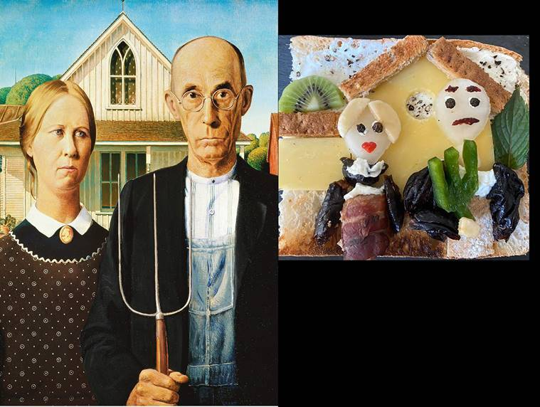 toast art, american gothic