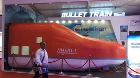 ahmedabad mumbai bullet train project, bullet train project work, bullet train construction, ahmedabad bullet train bidding, indian express news