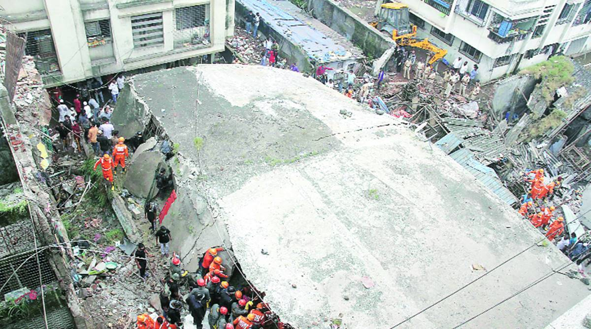 Bhiwandi Building Collapse, NDRF team, rescue team, dilapidated building, Narrow lanes, Mumbai news, Indian express news