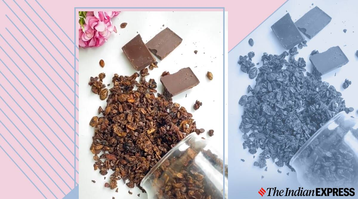 double chocolate granola, granola recipes, indianepxress.com, indianexpress, easy recipes, easy chocolate recipes, dessert recipes, easy