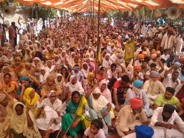 Opposing new farm bills, farmers launch protests across Punjab