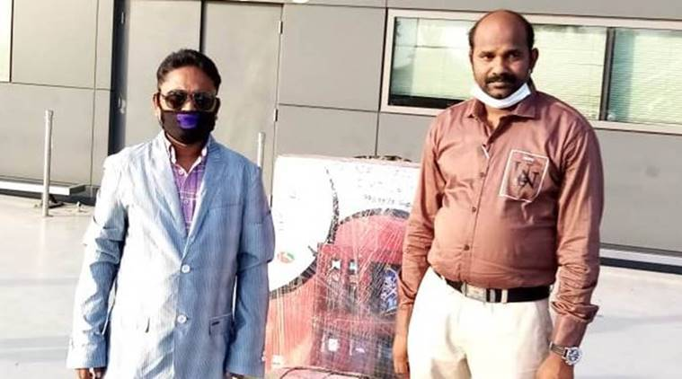 Hyderabad man sent back home, Telangana man back home, Hyderabad-Dubai-Muscat flight, Hyderabad migrants, Hyderabad migrants in Dubai, Hyderabad news, city news, Indian Express