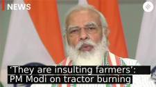 'They are insulting farmers': PM Modi on tractor burning at Rajpath