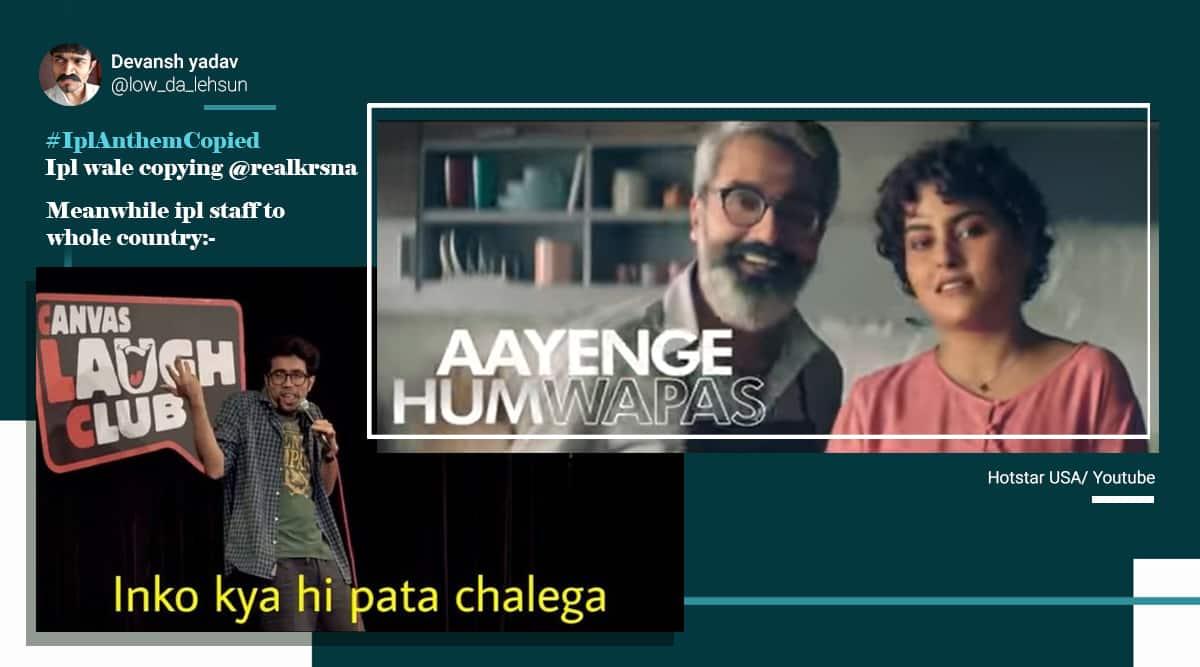 ipl 2020, Dream11 IPL 2020, Aayenge Hum Wapas. IPL anthem copied, IPL 2020 anthem controversy, rapper kr$na ipl song plagiarism, viral news, cricket news, indian express