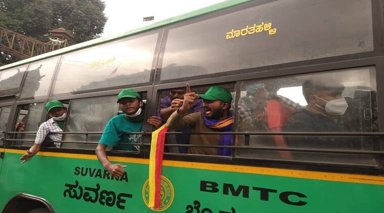 Karnataka Bandh, Bengaluru, Protesters, BMTC Buses, Protesters Detained