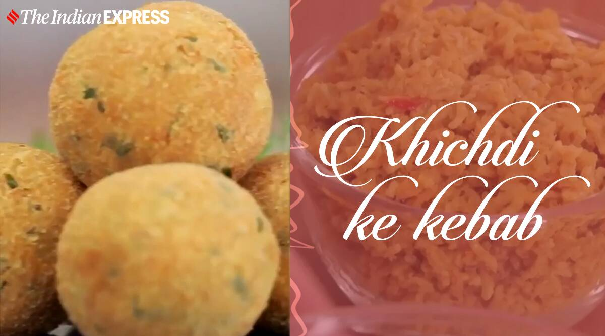 khichdi kebab, veg kebab recipe, easy snacks, leftover khichdi recipes, leftover recipes, kunal kapur recipes, easy recipes, easy snack recipes, indianexpress.com, indianexpress,